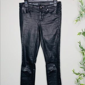MADWELL skinny skinny black coated denim